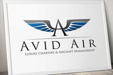 Avid Air Charter Company Logo / Identity