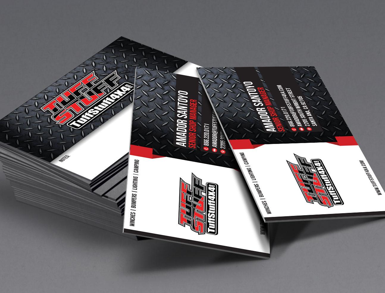 Tuff Stuff Business Cards - Damien Komala